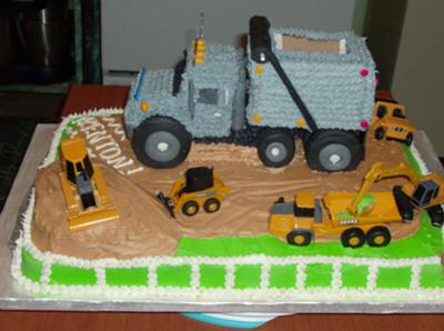Surprising Construction Cake Personalised Birthday Cards Veneteletsinfo