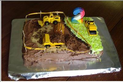 A Construction Site Cake