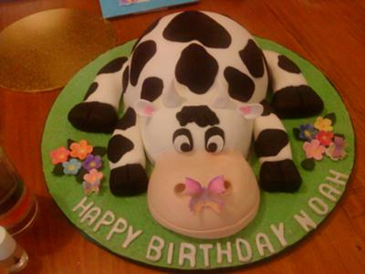 Sensational Cow Cake For Show Cake 2 Funny Birthday Cards Online Overcheapnameinfo