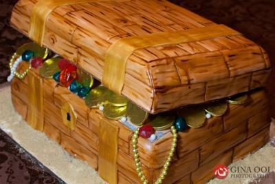 Creative Treasure Chest Cake