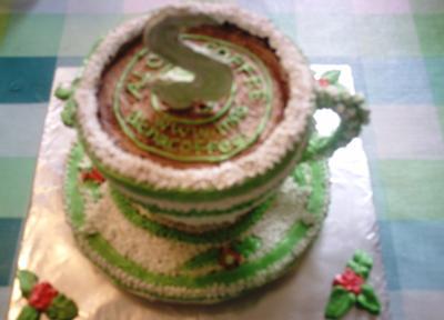 Aloha coffee logo cake