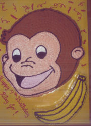 curious george cake template - pin head outline cake ideas and designs