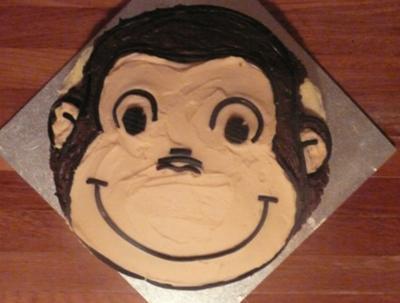 Curious George Monkey Cake