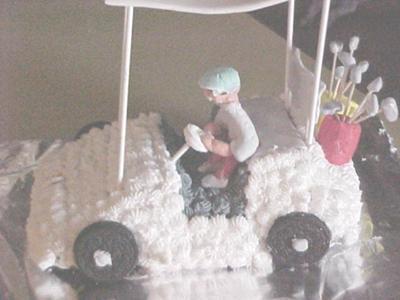 Cy's Golf Cart Cake