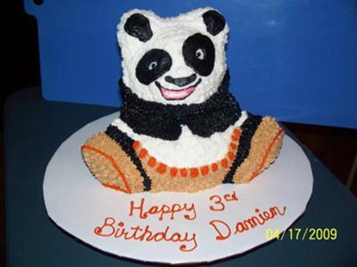 Damien's Kung Fu Panda Cake