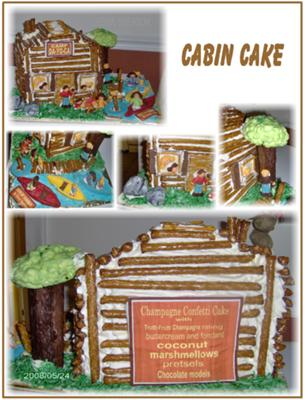 Days of Summer Cabin Cake