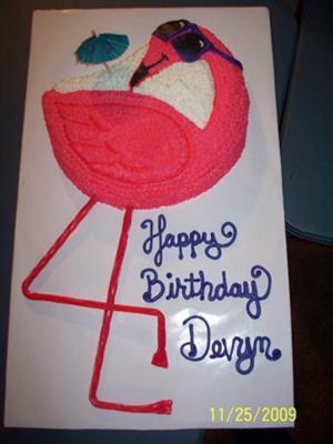 Devyn S Flamingo Cake