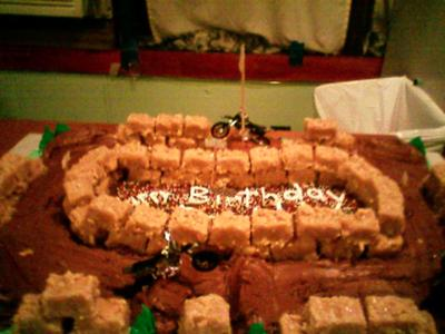 Excellent Dirt Bike Track Cake Funny Birthday Cards Online Overcheapnameinfo