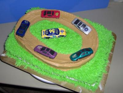 Dirt Track Car Racing Cake