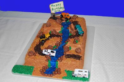 Dirt Track Truck Cake