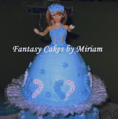 Doll Cake in Blue