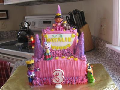 Dora Castle Cake