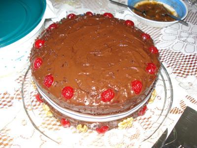 Double Layer Chocolate Walnut Cake