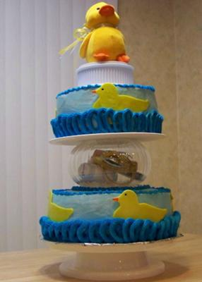 Duckling Baby Shower Cake
