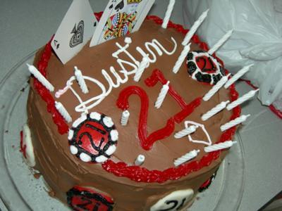Dustin's Lucky 21 Poker Cake