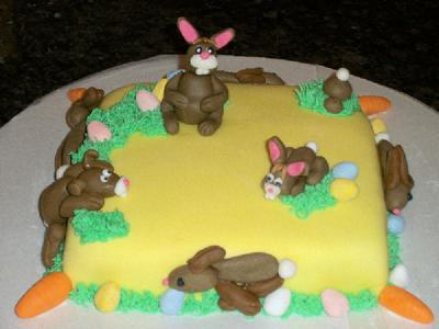 Easter Bunnies Cake