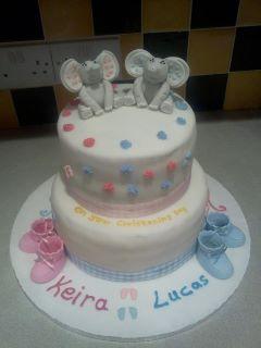 Elephant Christening Cake