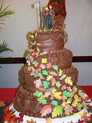 My first wedding cake attempt!