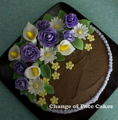 Fancy Flowers Cake