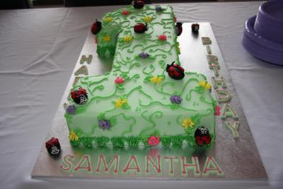first birthday magic garden cake - Garden Design Birthday Cake
