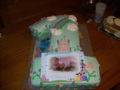 First Birthday Number One Cake