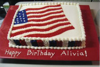 Flag Birthday Cake