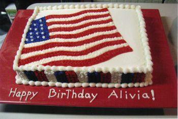 Flag Birthday Cake