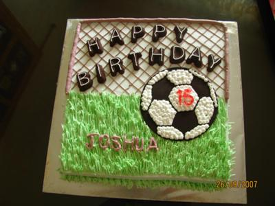Soccer field cake ideas