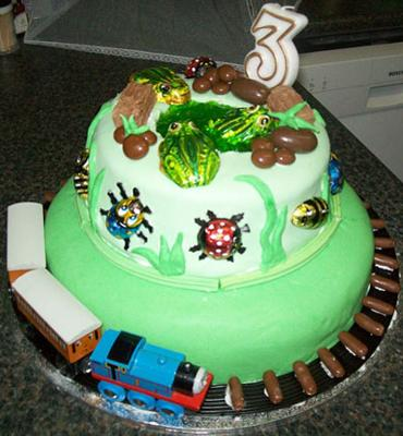 Birthday Cakes Reptiles Dinosaurs And Frogs