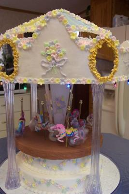 Fun at the Fair Carousel Cake
