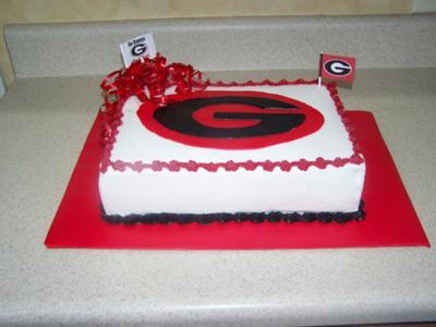 GA Dawgs Cake