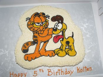 Garfield And Odie Cake Cake A Comical Birthday Cake