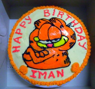 Sensational Garfield Birthday Cake Personalised Birthday Cards Veneteletsinfo
