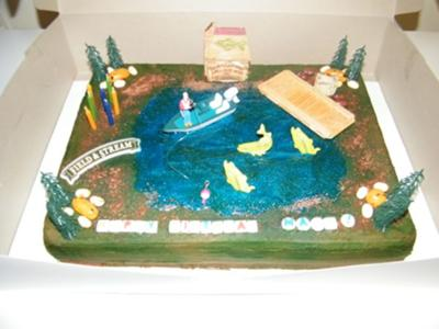 Excellent Gone Fishing Cake Funny Birthday Cards Online Alyptdamsfinfo