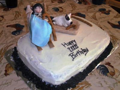 Grandma and Her Rocking Chair Cake