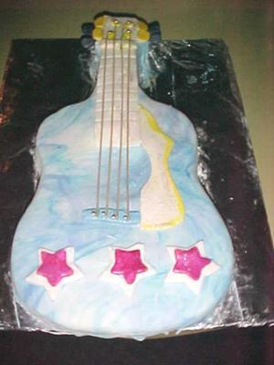 Guitar Cake Made With Fondant