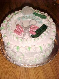 Hair Dresser Cake