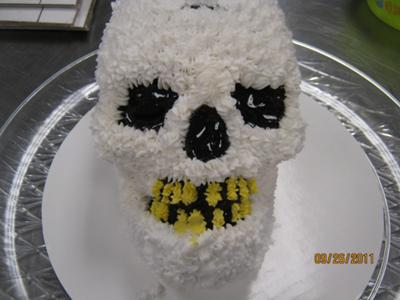 Halloween Skull Cake - Dia De Los Muertos Calavera