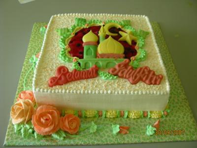 Cake Images With Name Hari : Hari Raya Cake