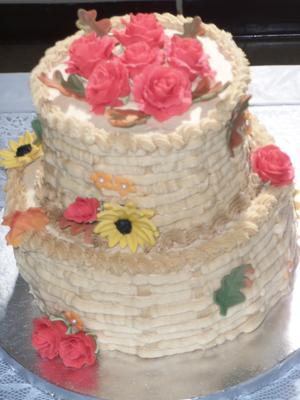 Harvest Cake on Display