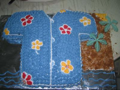 Hawaiian Shirt Birthday Cake