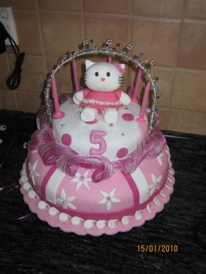 Kitty Birthday Cake on Hello Kitty 5th Birthday Cake