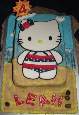 Hello Kitty at the Beach Cake
