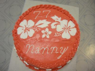 Hibiscus Birthday Cake