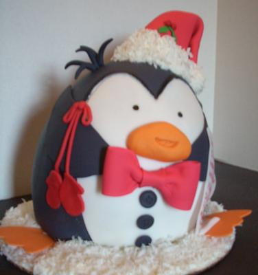 Holiday Penguin Cake
