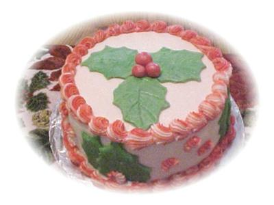 Holly Leaf Christmas Cake