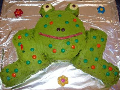 the princess and the frog cake. Homemade Frog Cake