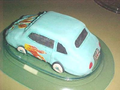 Hot Rod Car Cake