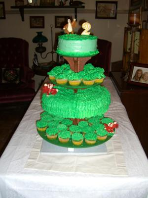 Its a Big Big World Tree Cake