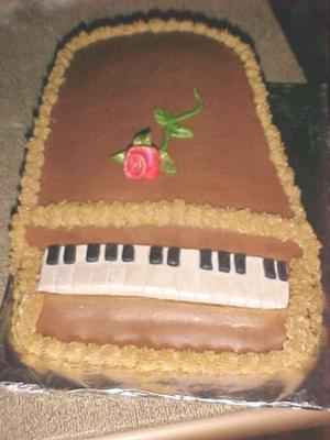 Black and White Keys Piano Cake
